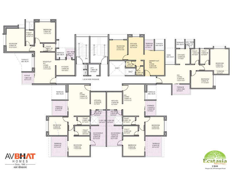 Ecstasia even floor (2nd floor) plan