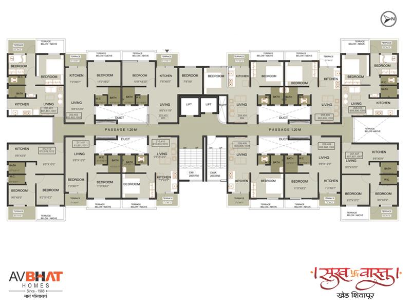 Sukhvastu even floor plan